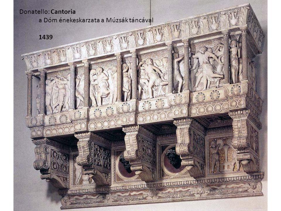 Donatello: Cantoria a Dóm énekeskarzata a Múzsák táncával 1439