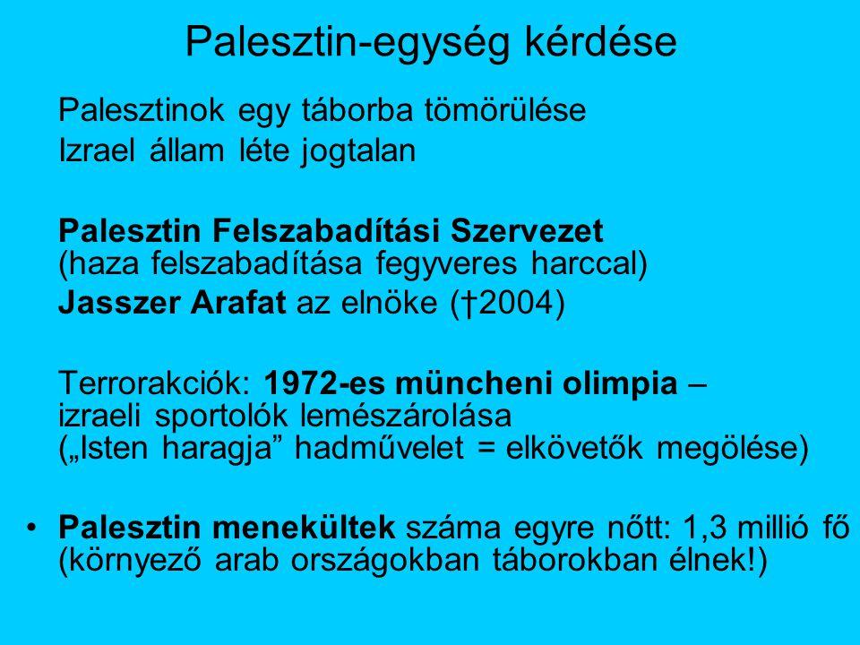 Palesztin-egység kérdése