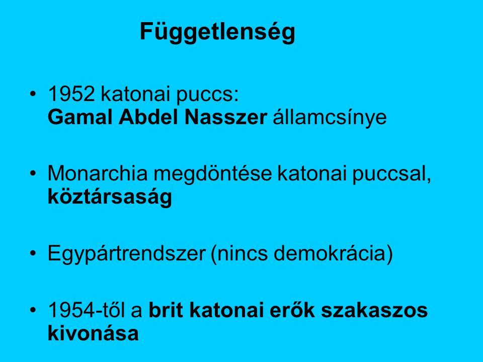 Függetlenség 1952 katonai puccs: Gamal Abdel Nasszer államcsínye