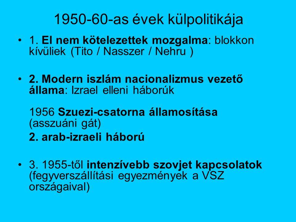 1950-60-as évek külpolitikája