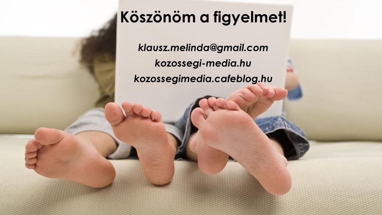 Köszönöm a figyelmet! klausz.melinda@gmail.com kozossegi-media.hu