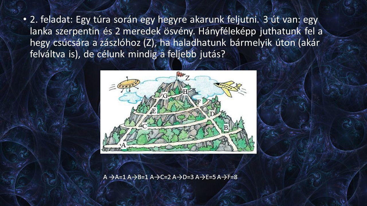 2. feladat: Egy túra során egy hegyre akarunk feljutni