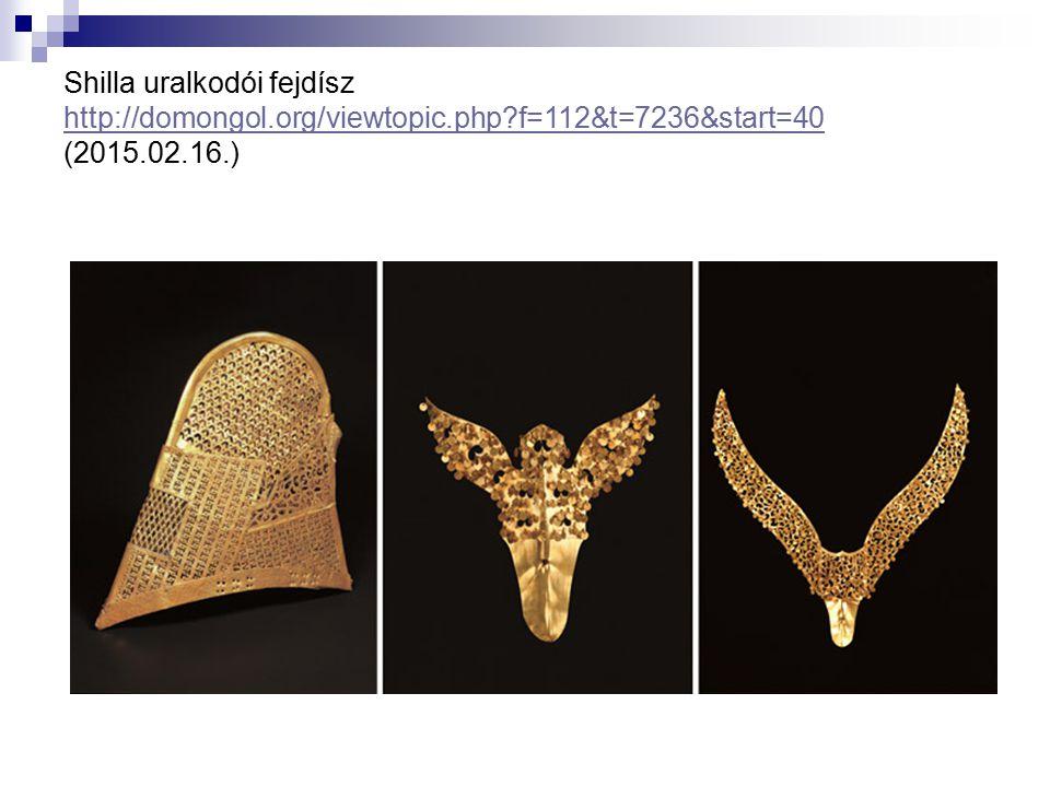 Shilla uralkodói fejdísz http://domongol. org/viewtopic. php