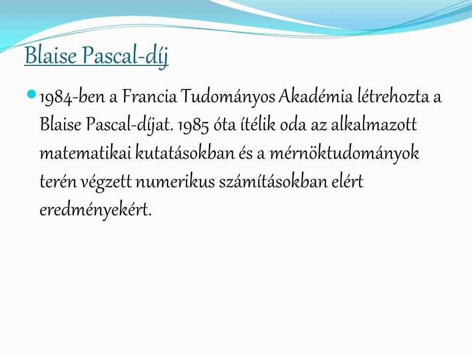 Blaise Pascal-díj