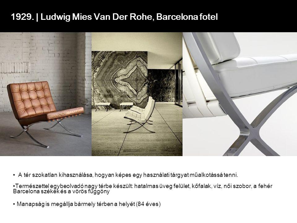 1929. | Ludwig Mies Van Der Rohe, Barcelona fotel