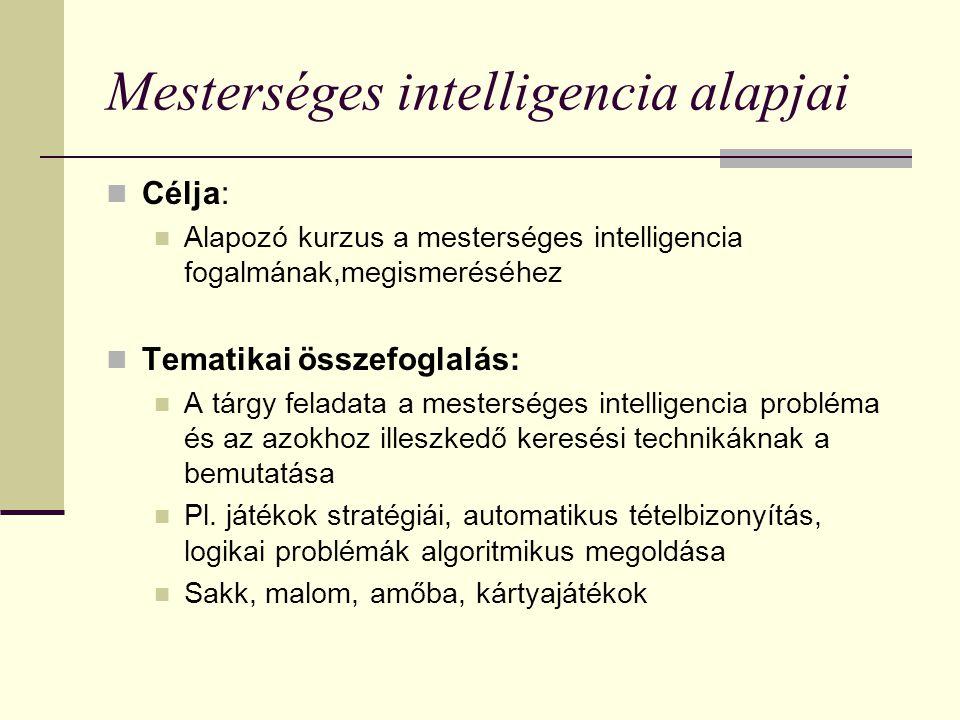 Mesterséges intelligencia alapjai