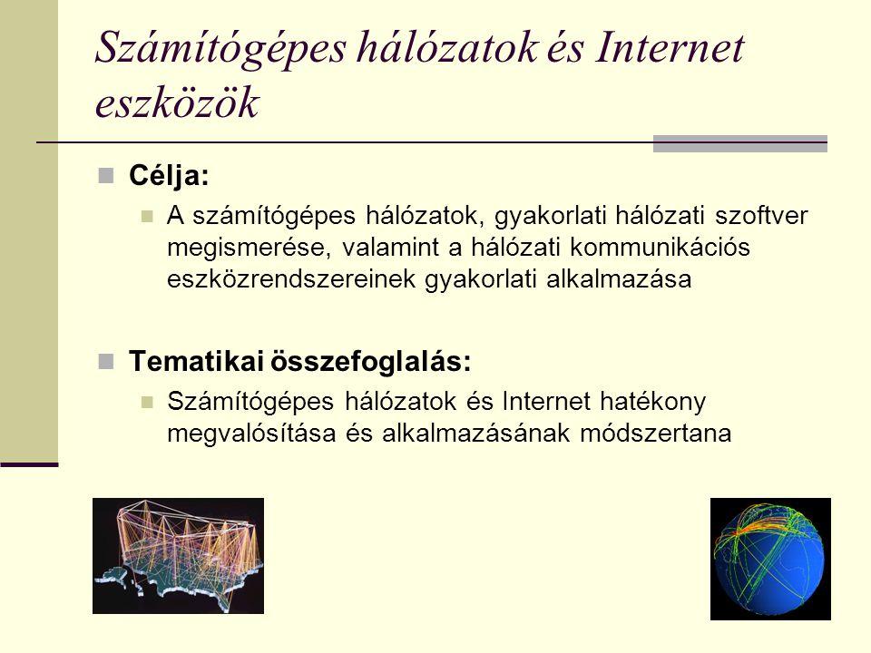 Számítógépes hálózatok és Internet eszközök