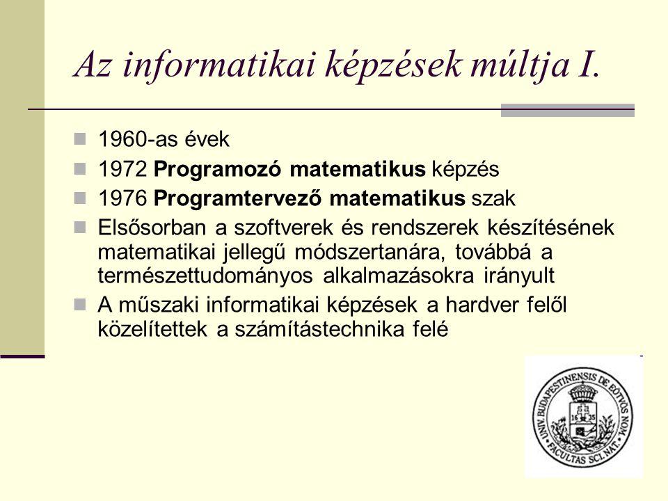 Az informatikai képzések múltja I.