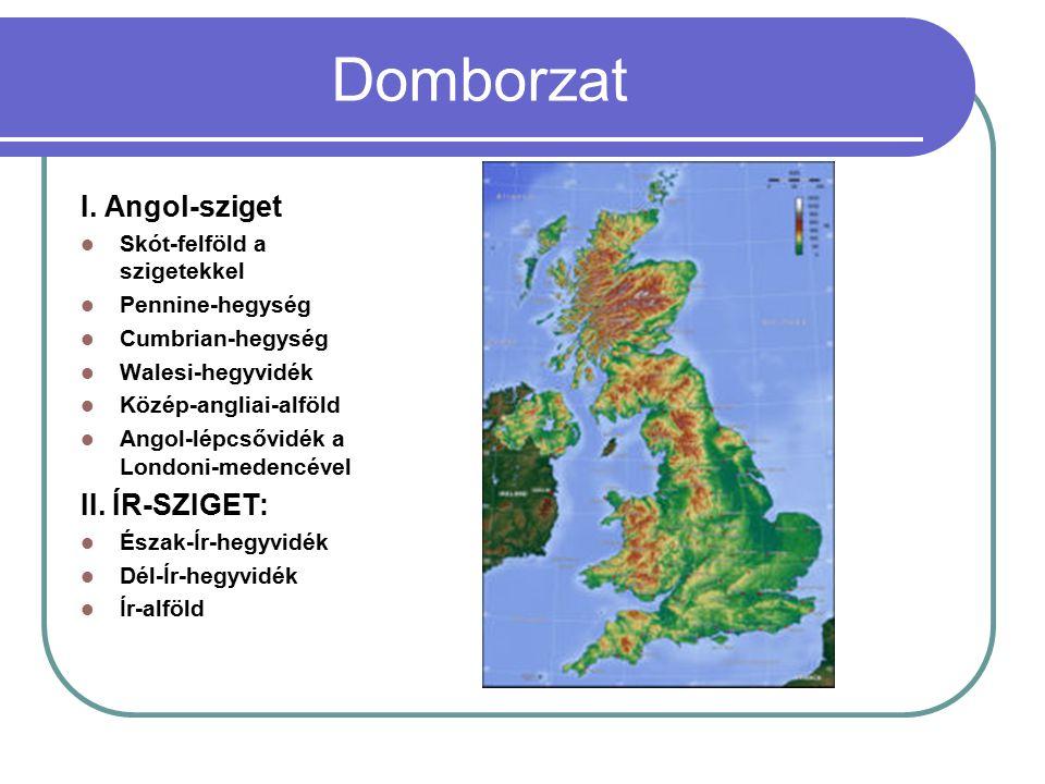 Domborzat I. Angol-sziget II. ÍR-SZIGET: Skót-felföld a szigetekkel
