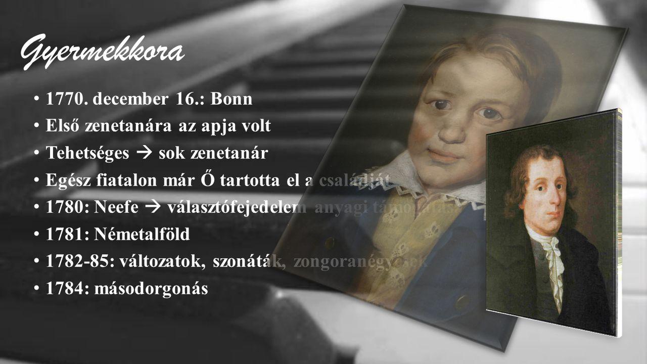 Gyermekkora 1770. december 16.: Bonn Első zenetanára az apja volt