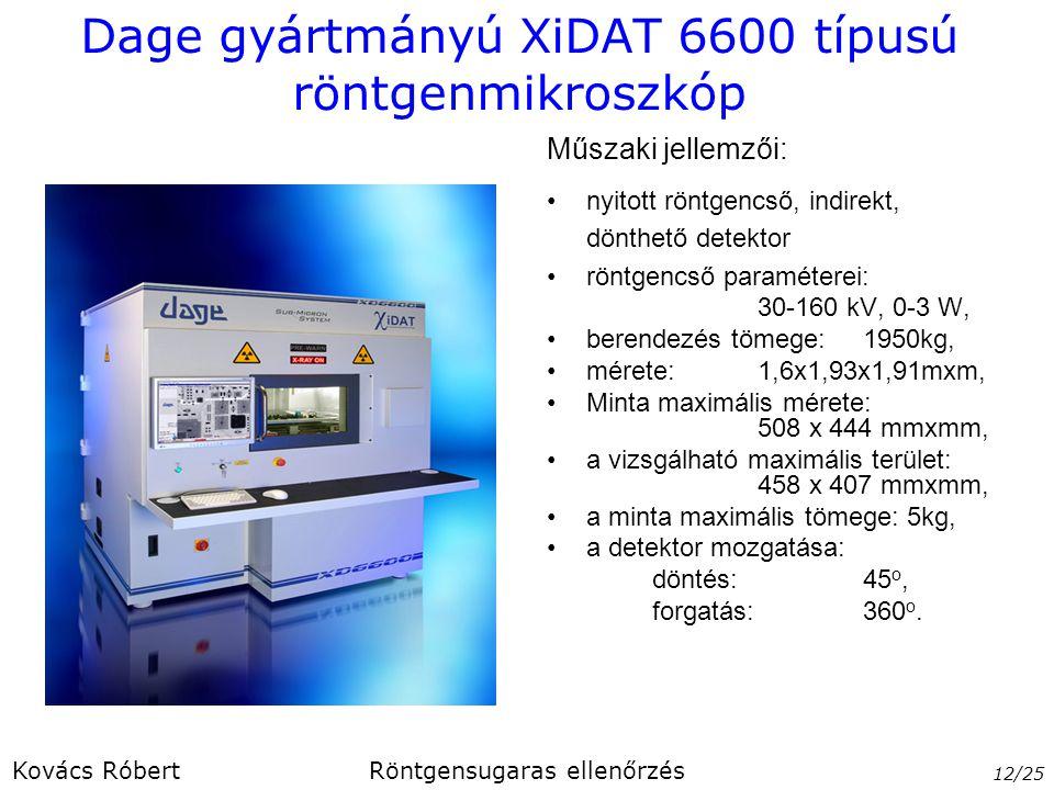 Dage gyártmányú XiDAT 6600 típusú röntgenmikroszkóp