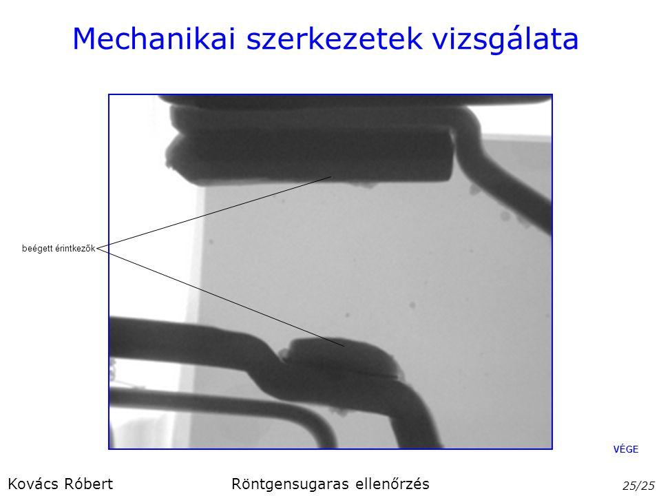 Mechanikai szerkezetek vizsgálata