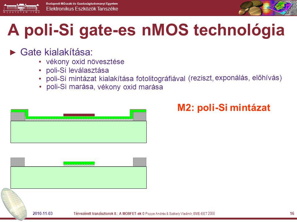 A poli-Si gate-es nMOS technológia