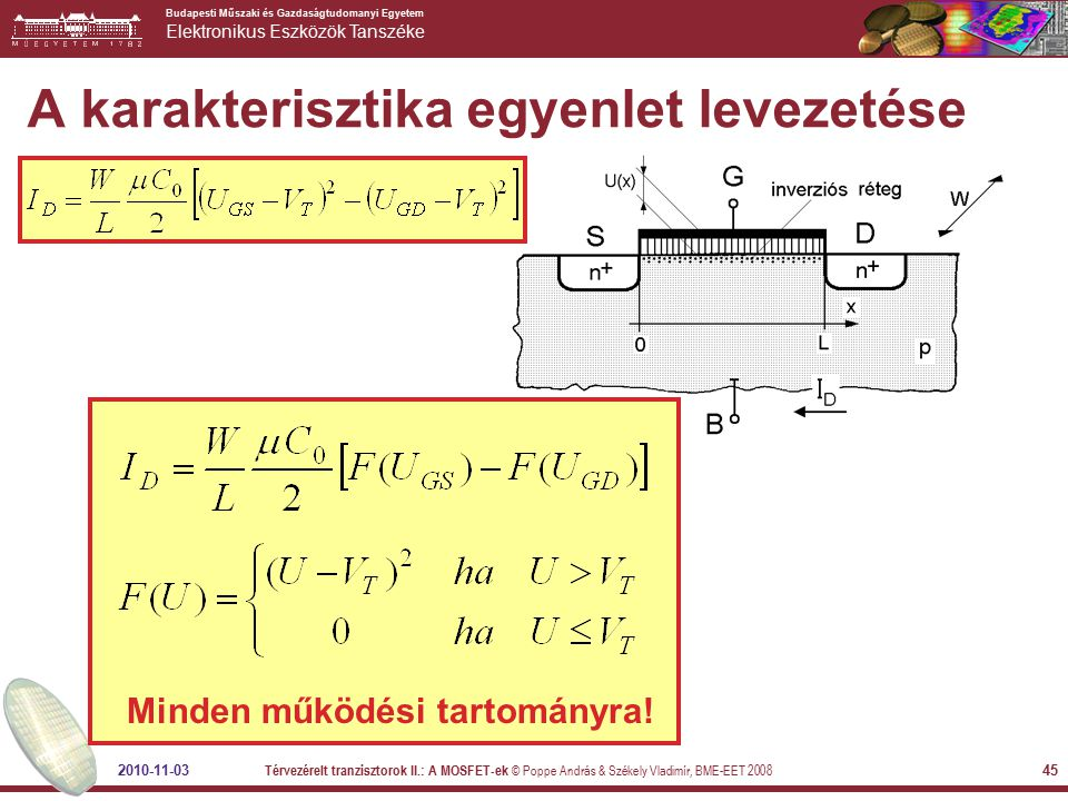 A karakterisztika egyenlet levezetése