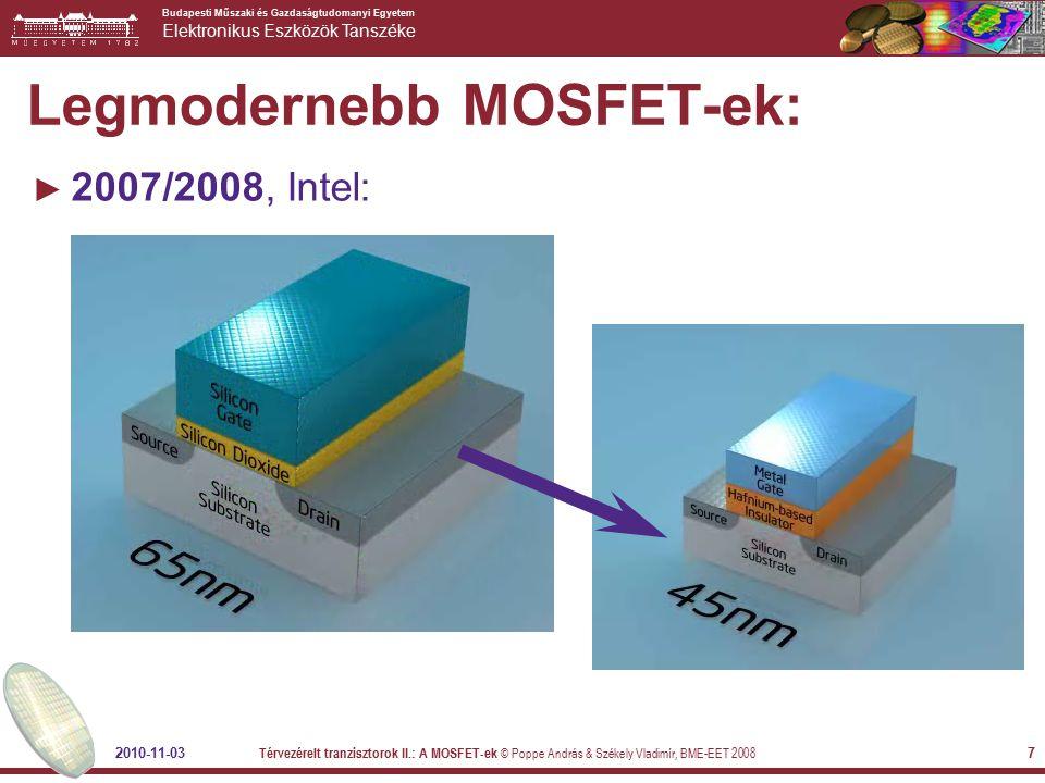 Legmodernebb MOSFET-ek: