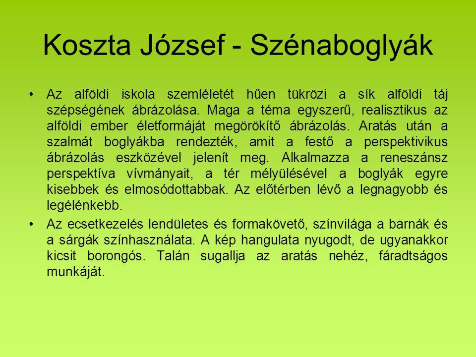 Koszta József - Szénaboglyák