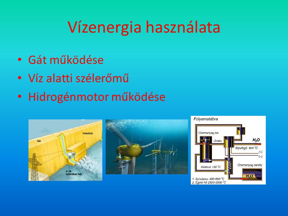 Vízenergia használata
