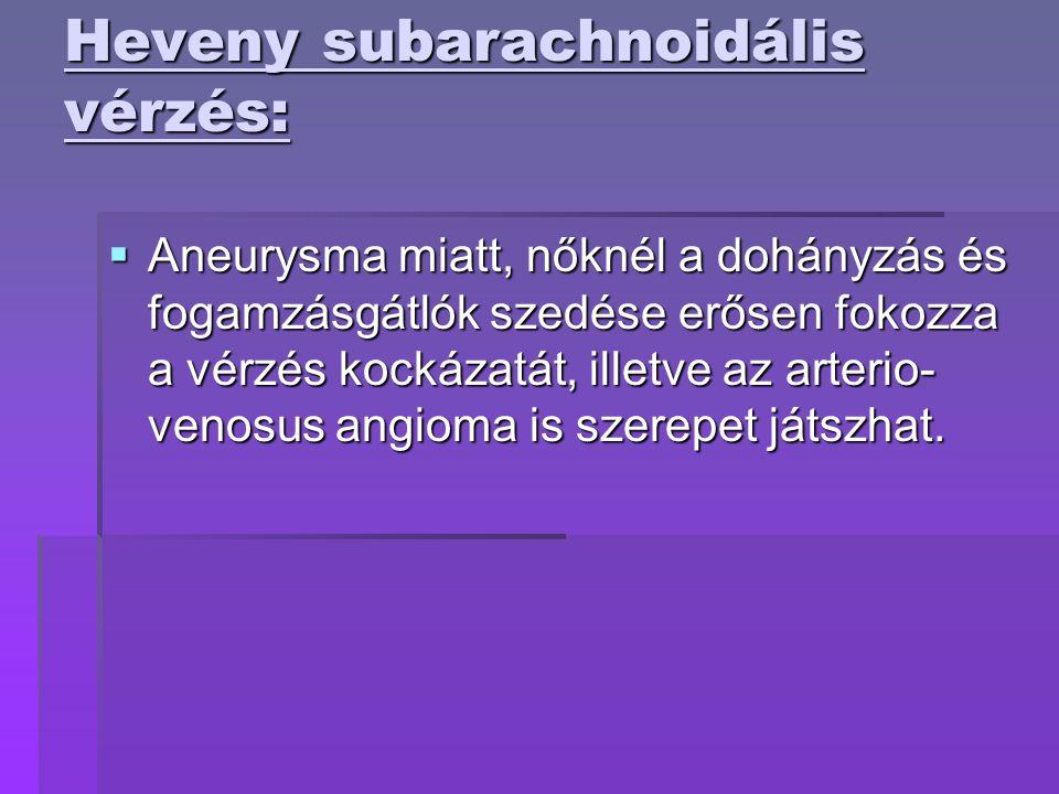 Heveny subarachnoidális vérzés: