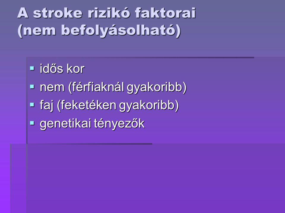 A stroke rizikó faktorai (nem befolyásolható)