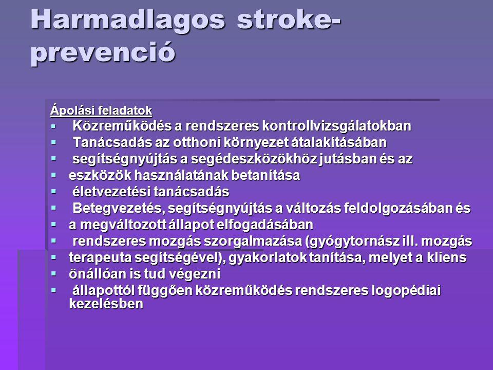 Harmadlagos stroke-prevenció