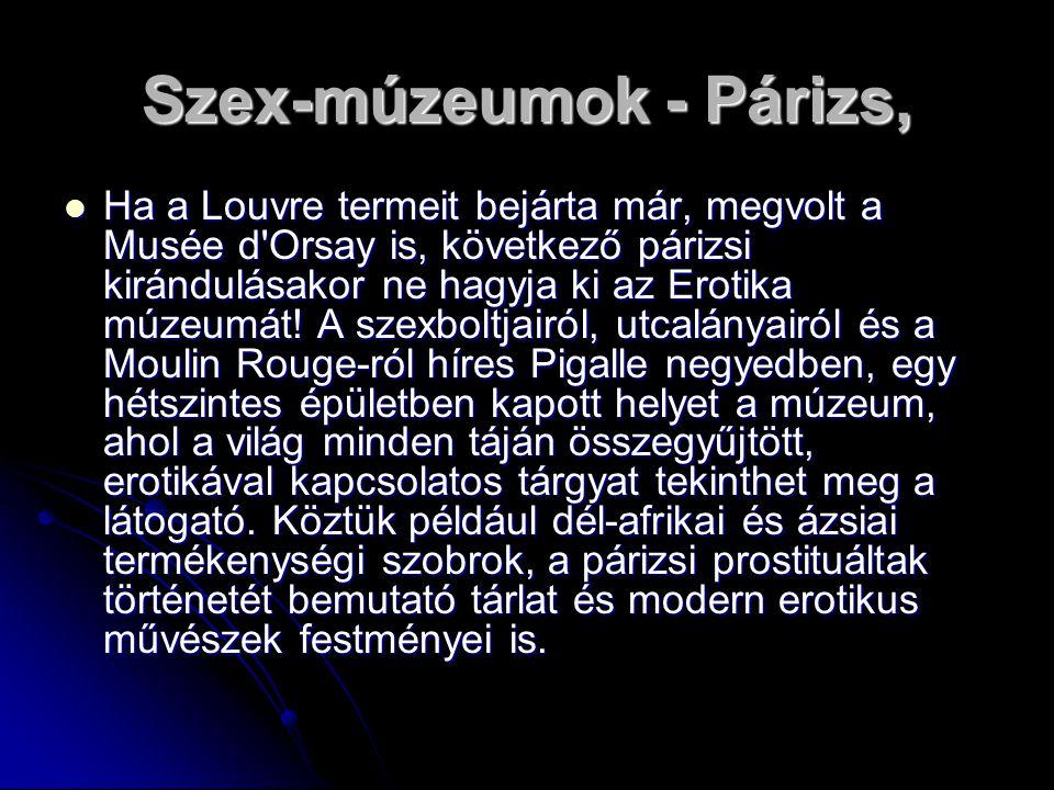 Szex-múzeumok - Párizs,