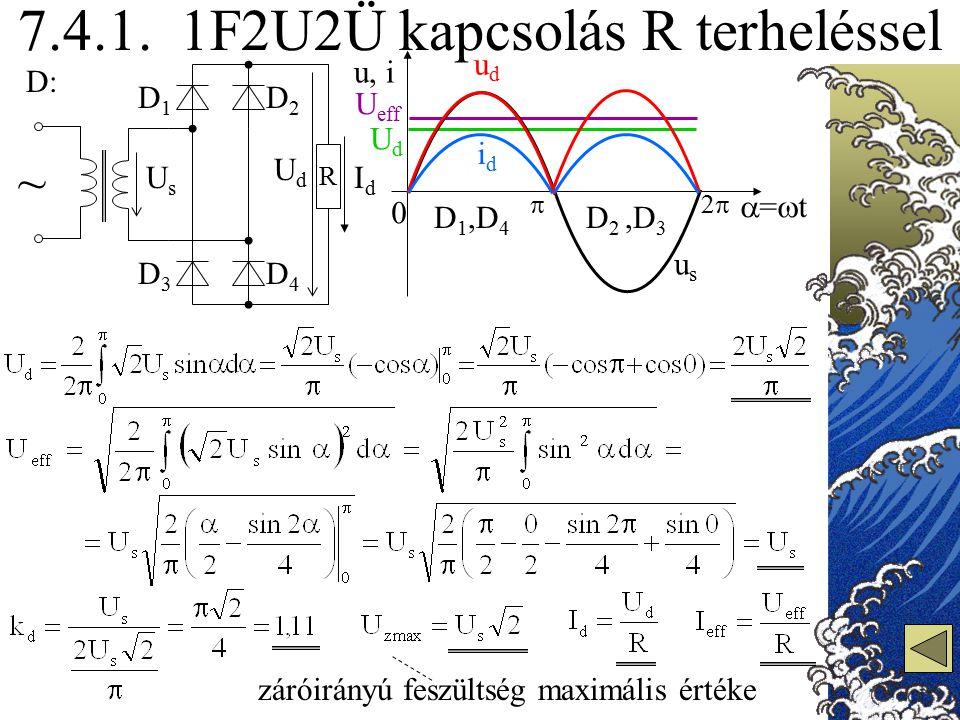 7.4.1. 1F2U2Ü kapcsolás R terheléssel