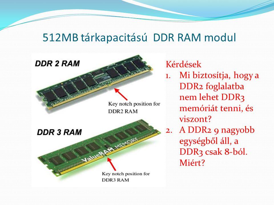 512MB tárkapacitású DDR RAM modul