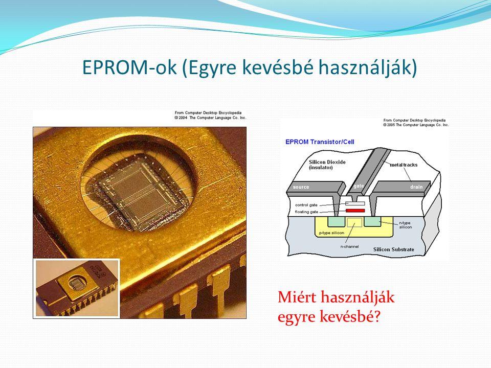 EPROM-ok (Egyre kevésbé használják)