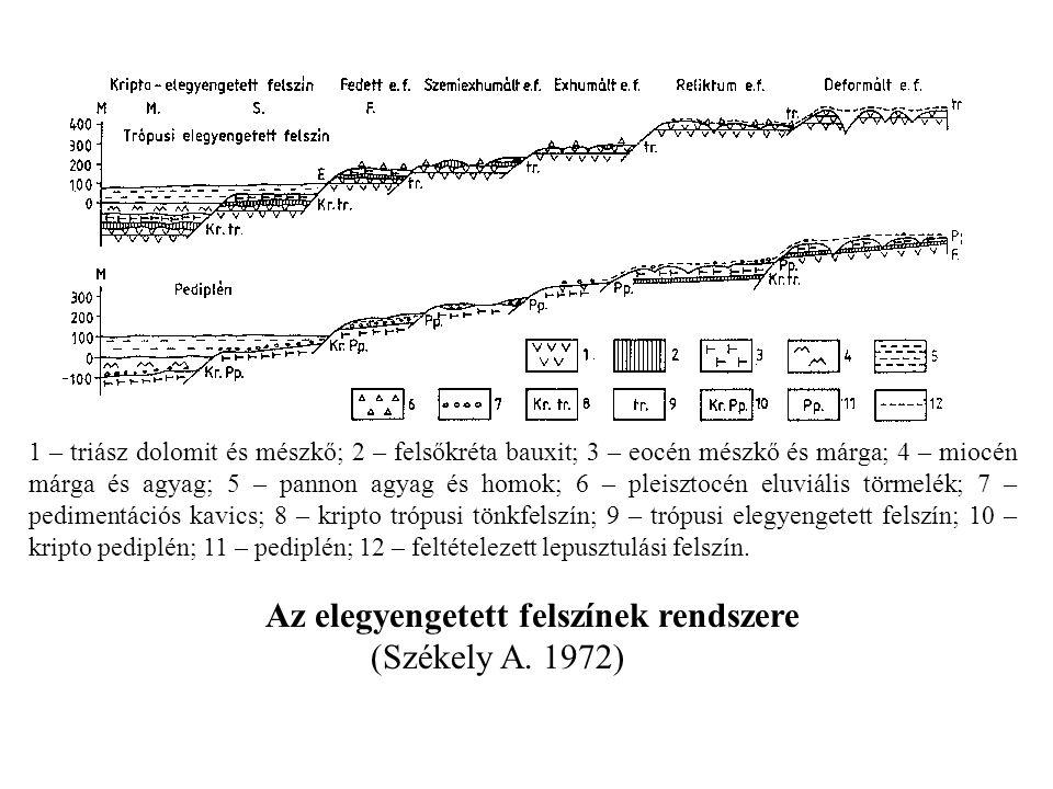 Az elegyengetett felszínek rendszere (Székely A. 1972)