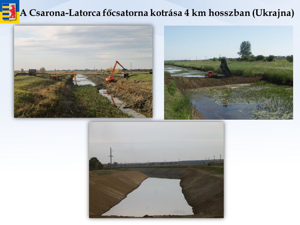 A Csarona-Latorca főcsatorna kotrása 4 km hosszban (Ukrajna)