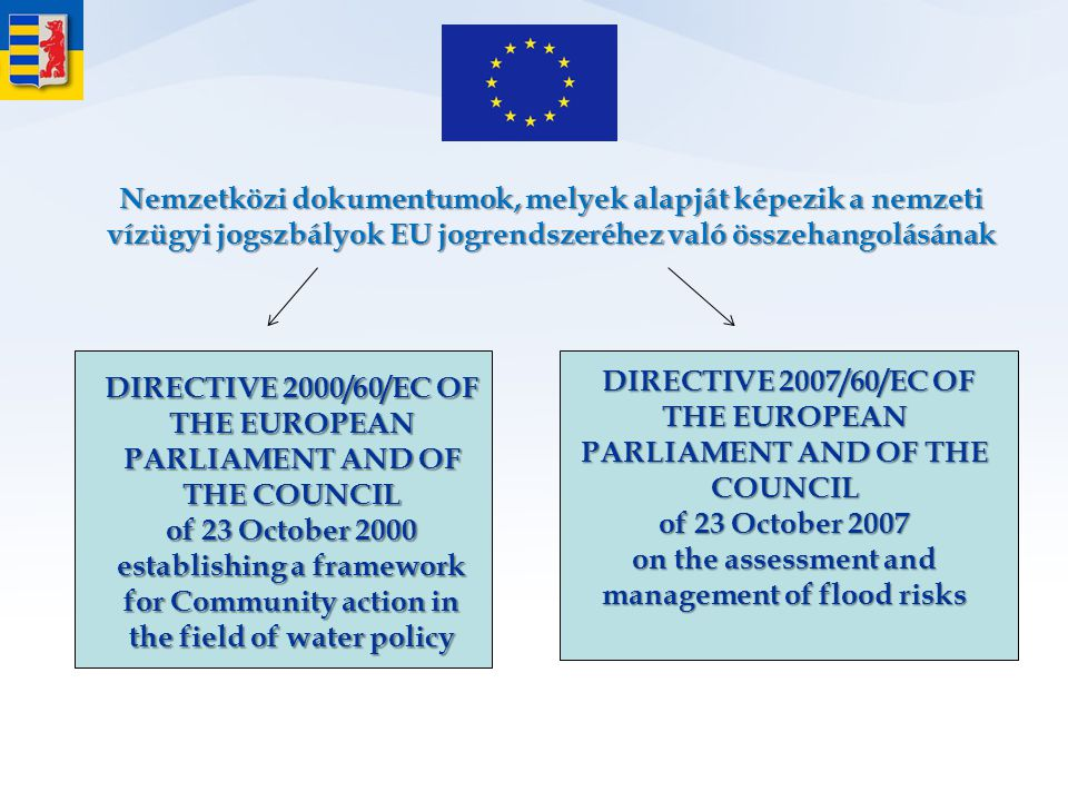 Directive 2000/60/EC of the European Parliament and of the Council