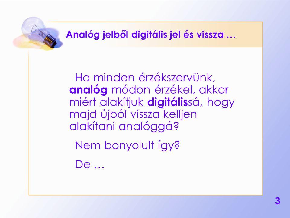 Analóg jelből digitális jel és vissza …