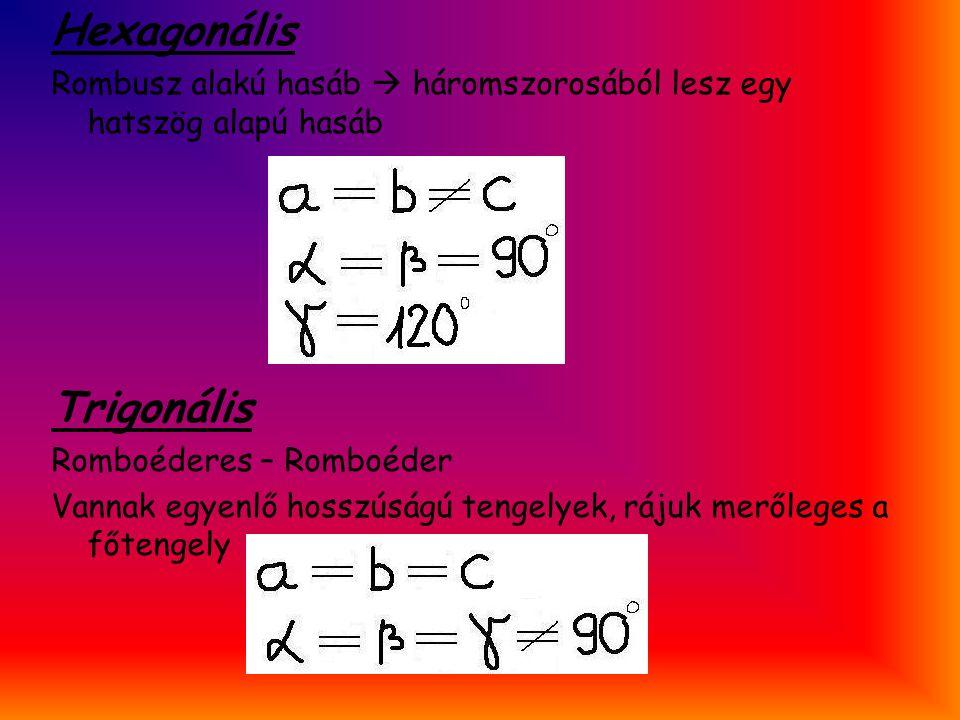 Hexagonális Trigonális