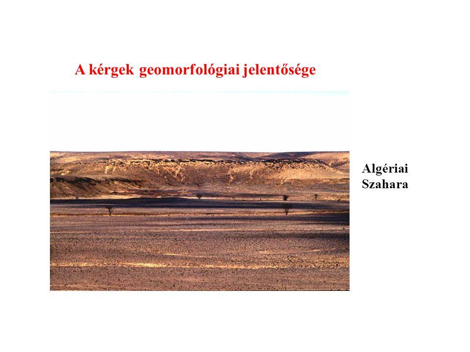 A kérgek geomorfológiai jelentősége