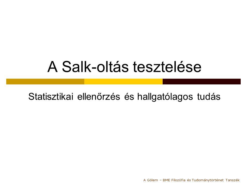 A Salk-oltás tesztelése