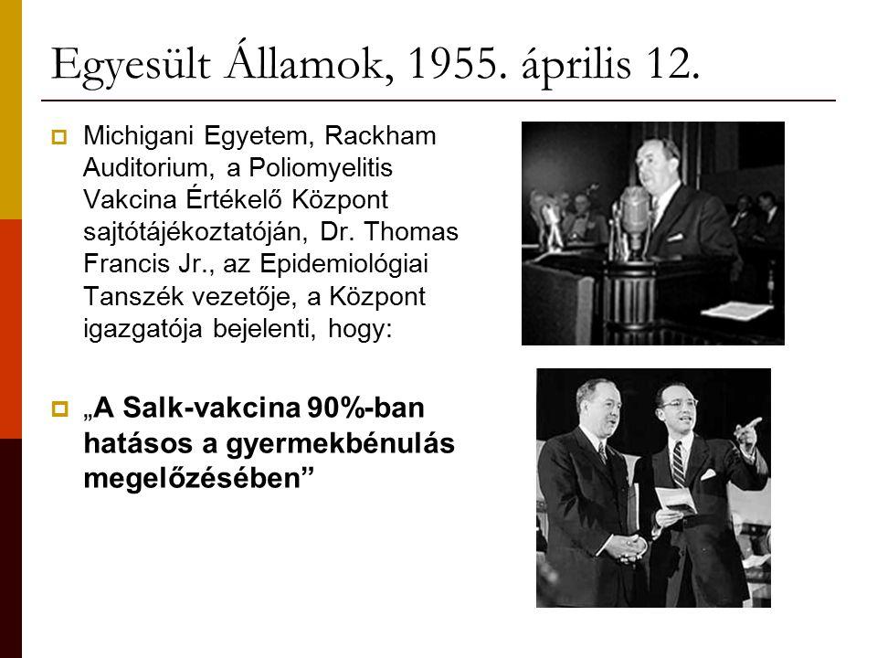 Egyesült Államok, 1955. április 12.