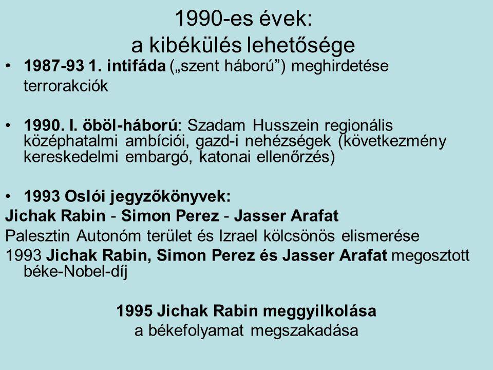 1990-es évek: a kibékülés lehetősége