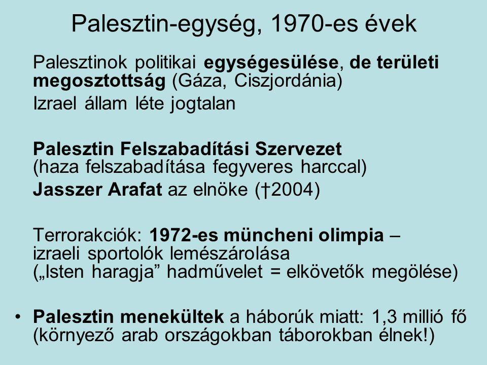 Palesztin-egység, 1970-es évek