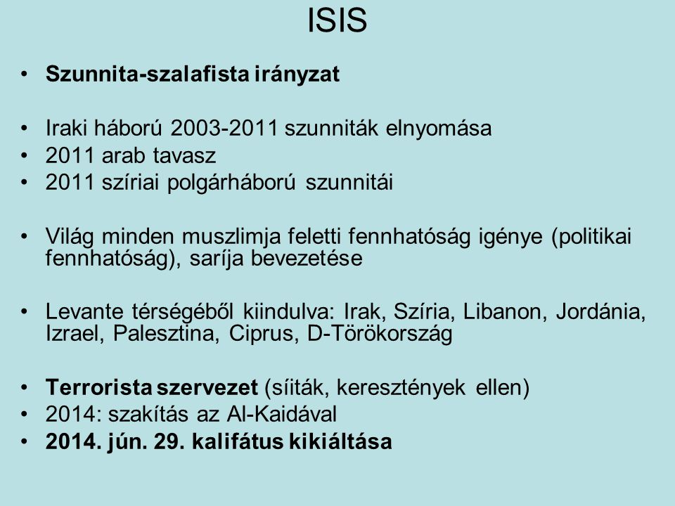 ISIS Szunnita-szalafista irányzat