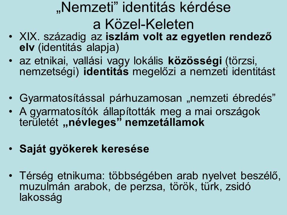 """""""Nemzeti identitás kérdése a Közel-Keleten"""