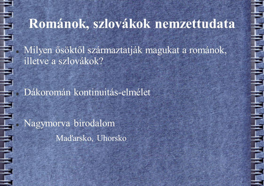 Románok, szlovákok nemzettudata