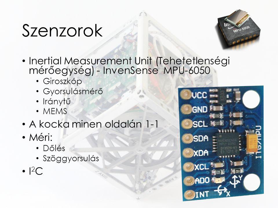 Szenzorok Inertial Measurement Unit (Tehetetlenségi mérőegység) - InvenSense MPU-6050. Giroszkóp.