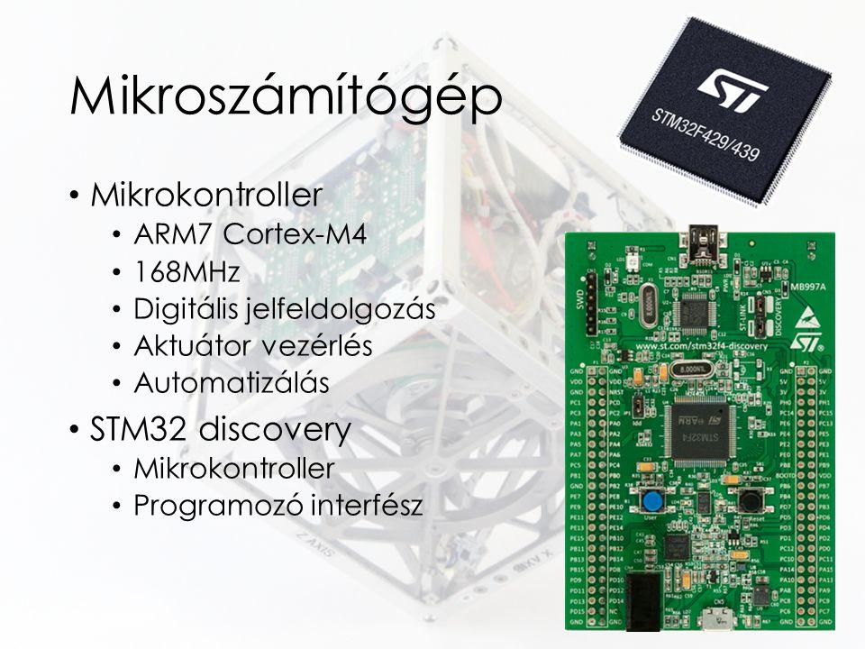 Mikroszámítógép Mikrokontroller STM32 discovery ARM7 Cortex-M4 168MHz