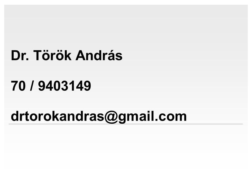 Dr. Török András 70 / 9403149 drtorokandras@gmail.com