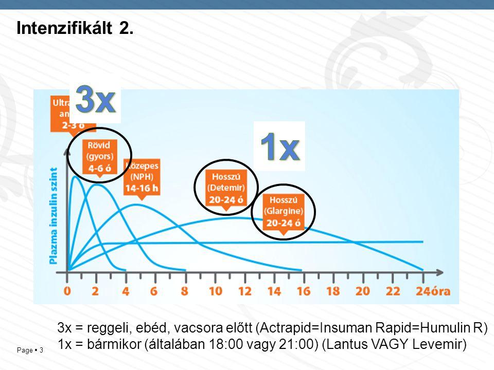 Intenzifikált 2. 3x. 1x. 3x = reggeli, ebéd, vacsora előtt (Actrapid=Insuman Rapid=Humulin R)