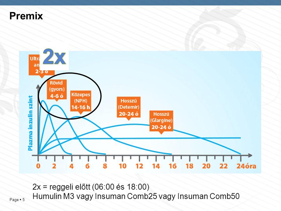 2x Premix 2x = reggeli előtt (06:00 és 18:00)