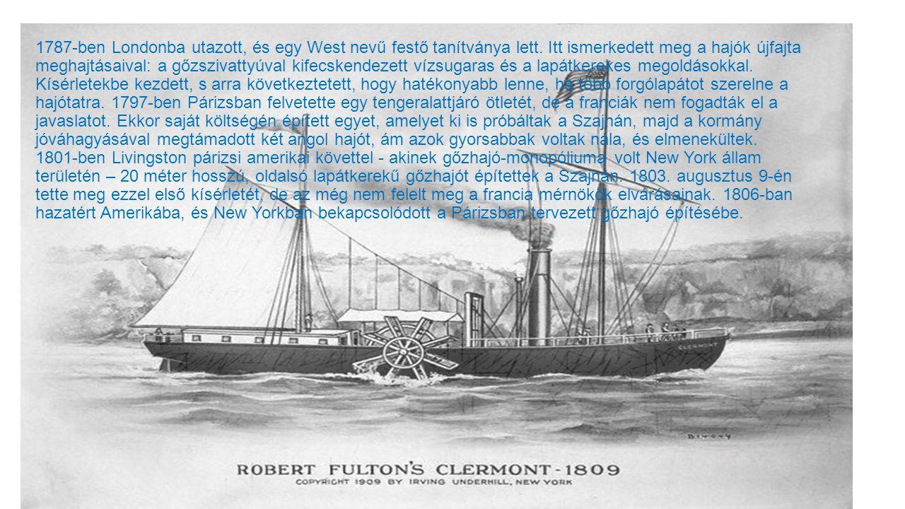1787-ben Londonba utazott, és egy West nevű festő tanítványa lett