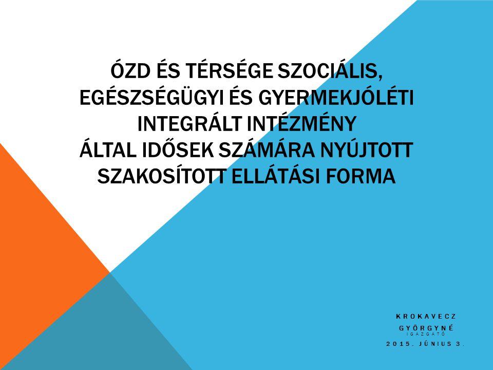 Krokavecz Györgyné igazgató 2015. Június 3.