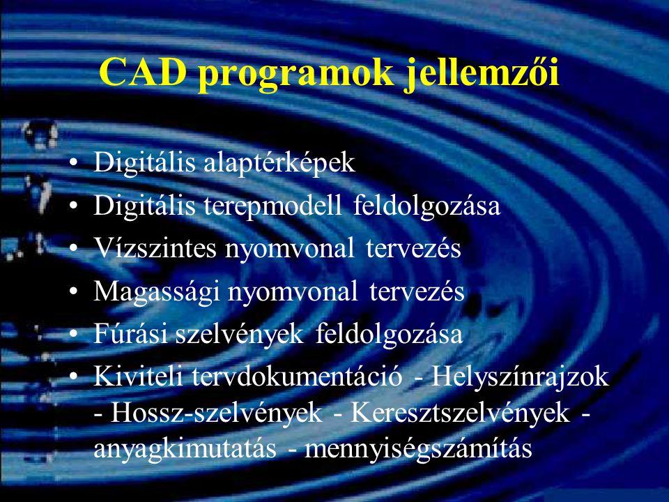 CAD programok jellemzői