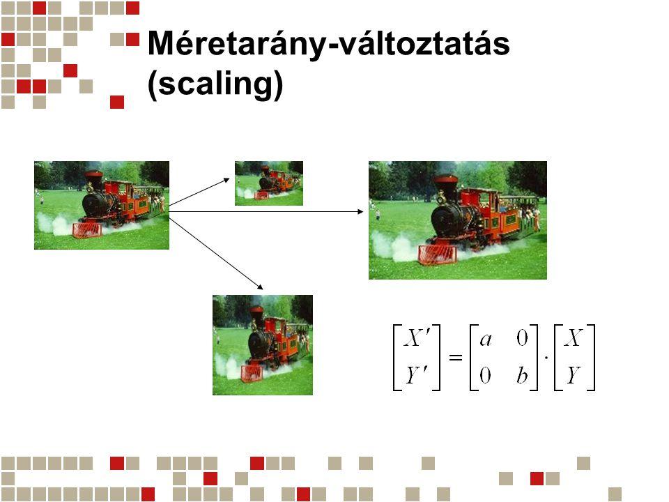 Méretarány-változtatás (scaling)